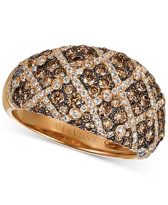 Le Vian Chocolatier Diamond Dome Ring 1 5 8 ct t w in 14k