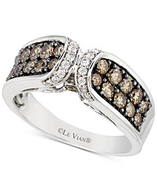 Le Vian Chocolatier® Diamond Ring (9/10 ct. t.w.) in 14k White Gold