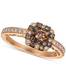 Le Vian Chocolatier® Diamond Halo Ring (1/2 ct. t.w.) in 14k Rose Gold
