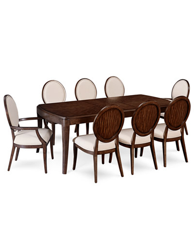 Delfina Dining Furniture 9 Pc Set Expandable Leg Table 6