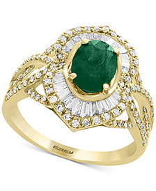 Brasilica by EFFY® Emerald (1-1/8 ct. t.w.) & Diamond (5/8 ct. t.w.) Ring in 14k Gold