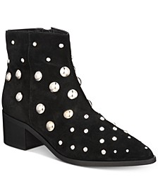 Women's Barston Embellished Suede Pointed Toe Boots