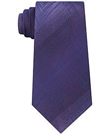 Calvin Klein Men's Brushed Fern Silk Tie