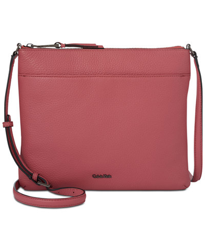 Calvin Klein Lily Pebble Leather Crossbody