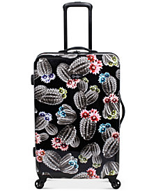 "Jessica Simpson Cactus Printed 25"" Hardside Spinner Suitcase"