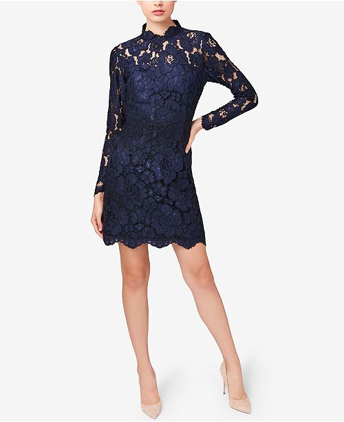 9a4c8c4ddc104 Betsey Johnson Illusion Lace Mock-Neck Sheath Dress & Reviews ...