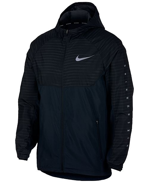 614e9e3744f5 Nike Men s Essential Hooded Water-Resistant Running Jacket   Reviews ...