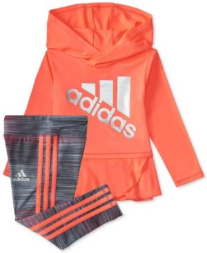 adidas 2Pc Hoodie  Pants Set Little Girls (46X)