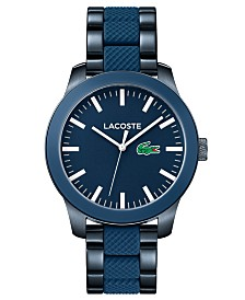 Lacoste Men's 12.12 Pinnacle Blue Stainless Steel & Silicone Bracelet Watch 43mm