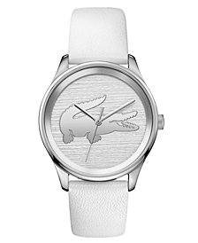 Lacoste Women's Victoria White Leather Strap Watch 38mm