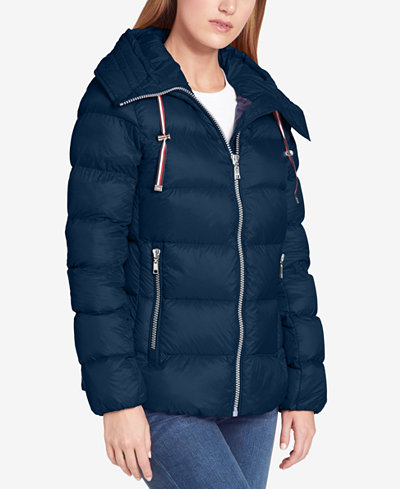 Tommy Hilfiger Hooded Packable Down Coat Created For Macy