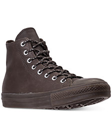 Converse Men's Chuck Taylor All Star Leather High Top Casual Sneakers from Finish Line