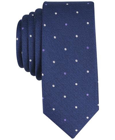 Bar III Men's Latour Dot Skinny Tie, Created for Macy's