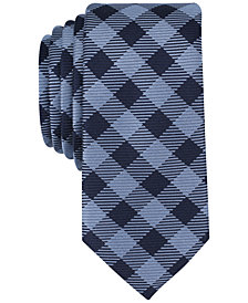 Bar III Men's Coronie Plaid Skinny Tie, Created for Macy's