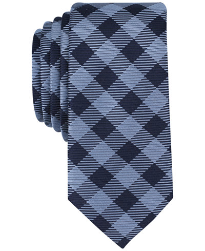 Bar III Men's Coronie Plaid Skinny Tie, Created for Macy's