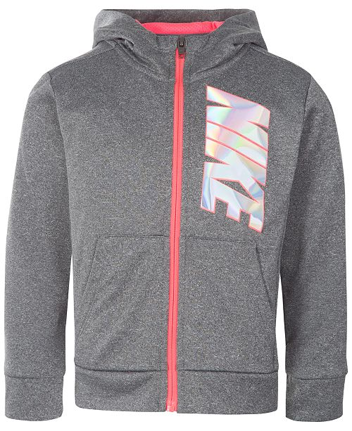 391793481da6b Nike Full-Zip Therma Training Hoodie, Toddler Girls & Reviews ...