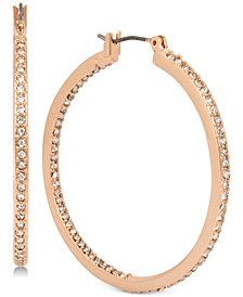 Kenneth Cole New York Pavé Hoop Earrings