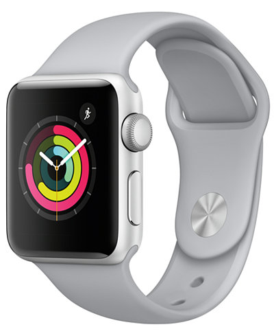 Apple Watch Series 3 (GPS), 38mm Silver Aluminum Case with Fog Sport Band