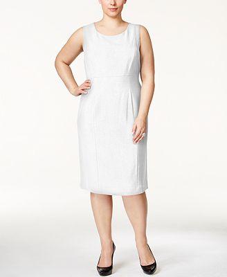 Kasper Plus Size Crepe Sheath Dress Dresses Women Macy S