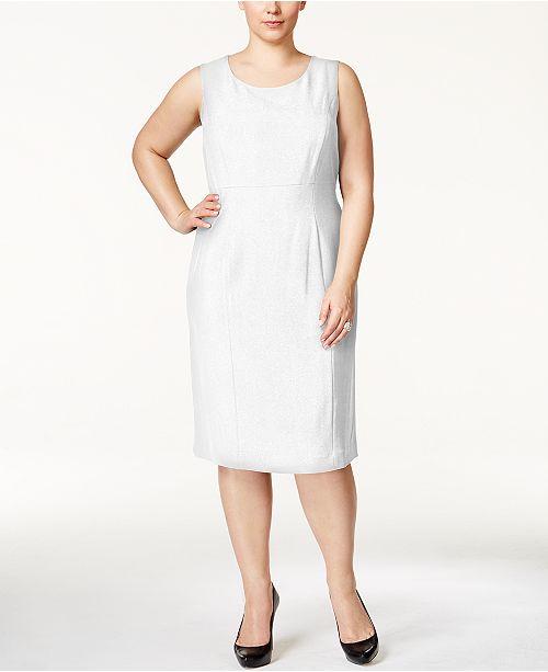 Kasper Plus Size Crepe Sheath Dress Dresses Macys