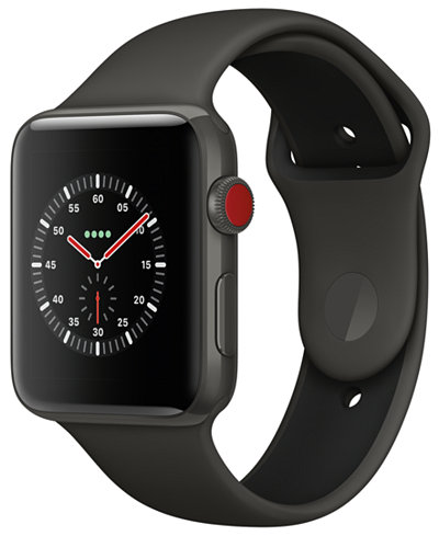 Apple Watch Edition (GPS + Cellular), 42mm Gray Ceramic Case with Gray/Black Sport Band