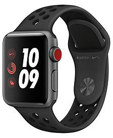 Apple Watch Nike+ (GPS + Cellular),  38mm Space Gray Aluminum Case with Anthracite/Black Nike Sport Band
