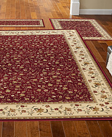 CLOSEOUT! KM Home Roma Floral 3-pc Area Rug Set