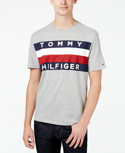 tommy hilfiger men 39 s upstate logo flag t shirt created. Black Bedroom Furniture Sets. Home Design Ideas