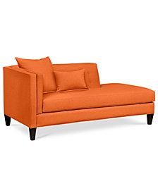 Braylei Fabric Chaise - Custom Colors, Created for Macy's