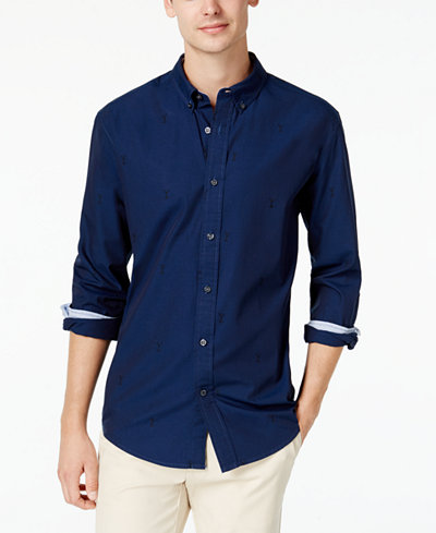 Tommy Hilfiger Men's Embroidered Martini Shirt, Created for Macy's