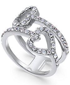 Joan Boyce Pavé Double-Heart Ring