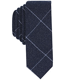 Original Penguin Men's Driggs Grid Skinny Tie