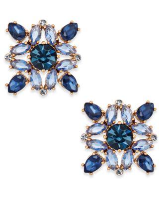 kate spade new york Rose GoldTone MultiCrystal Stud Earrings