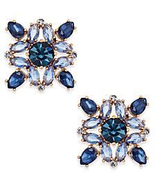 kate spade new york Rose Gold-Tone Multi-Crystal Stud Earrings