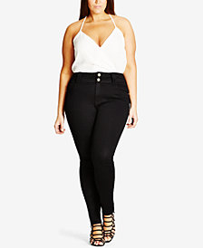 City Chic Trendy Plus Size Asha Skinny Jeans