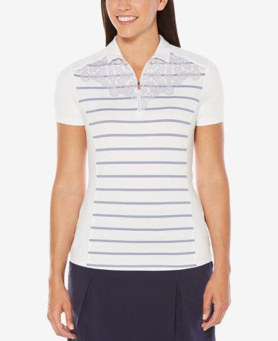 Callaway Striped Graphic Golf Polo