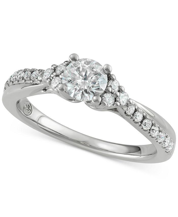 Macy's - Diamond Engagement Ring (3/4 ct. t.w.) in 14k White Gold