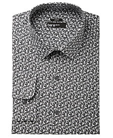 Bar III Men's Slim-Fit Stretch Easy-Care Cabbage Rose Print Dress Shirt, Created for Macy's