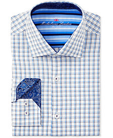 Michelsons of London Men's Slim-Fit Dobby Check Dress Shirt