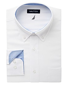 Men's Classic/Regular Fit Comfort Stretch Wrinkle Free Solid Oxford Dress Shirt