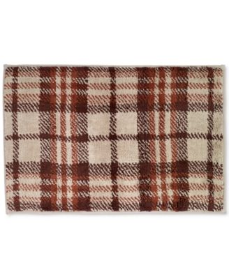 "Nature Walk Cotton 20"" x 30"" Plaid Bath Rug"