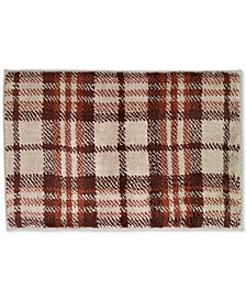 "Avanti Nature Walk Cotton 20"" x 30"" Plaid Bath Rug"