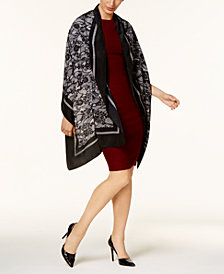 MICHAEL Michael Kors Delicate Lace-Print Wrap & Scarf in One