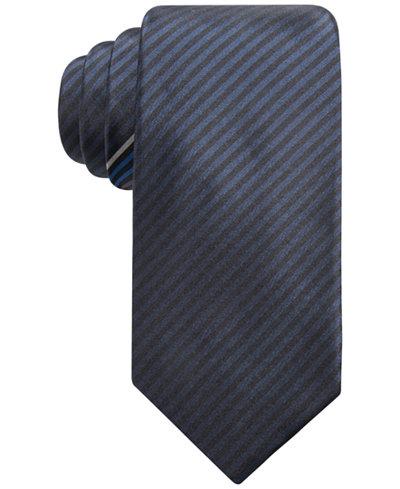 Alfani Men's Stripe Slim Silk Tie, Created for Macy's