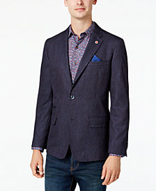 Ben Sherman Men's Slim-Fit Blue/Red Neat Sport Coat