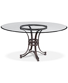 """Caspian Round Metal Dining Table 60"""", Created for Macy's"""