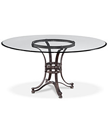 "Caspian Round Metal Dining Table 60"", Created for Macy's"