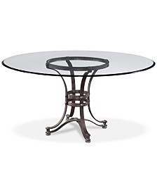 "Caspian Round Metal Dining Table 54"", Created for Macy's"