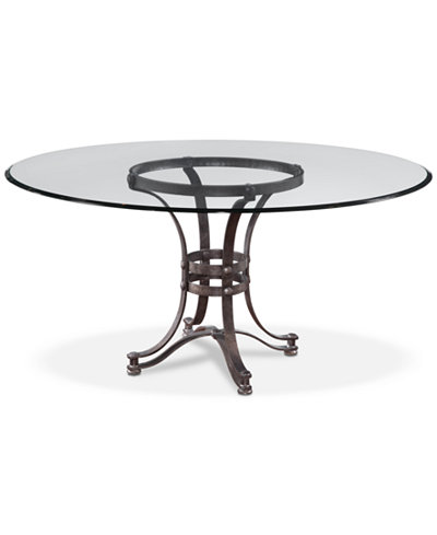 Caspian Round Metal Dining Table 60