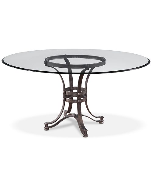 e9b00be4ed00 ... Furniture Caspian Round Metal Dining Table 54